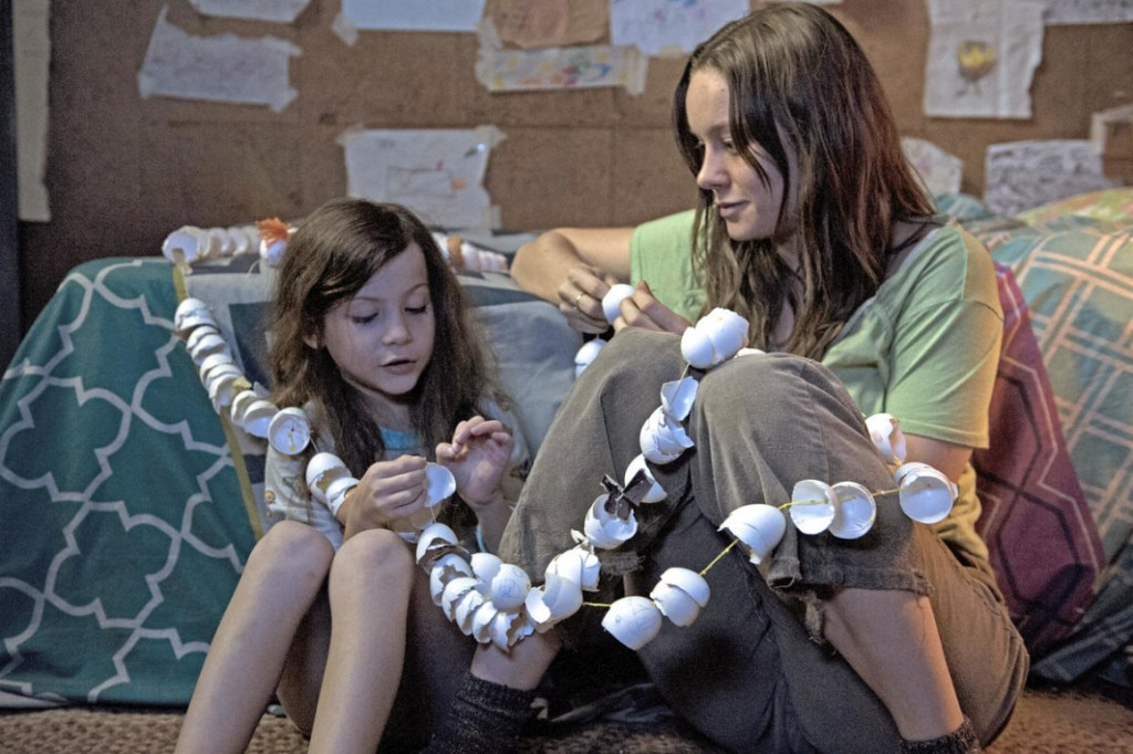 Jacob Tremblay and Brie Larson making an eggshell snack in Room