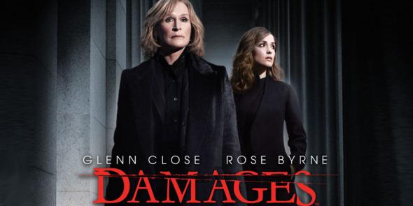 Damages poster starring Glenn Close and Rose Byrne