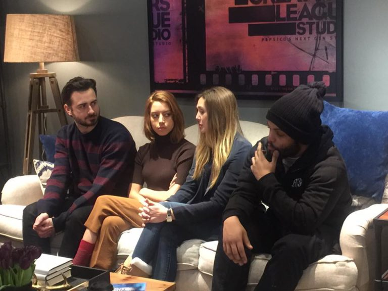 Aubrey Plaza, Elizabeth Olsen, O'Shea Jackson Jr. and Matt Spicer for Ingrid Goes West at Sundance