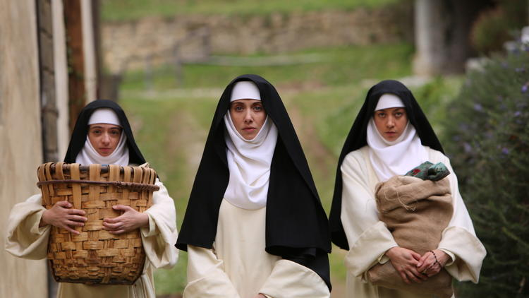 alison brie and aubrey plaza as nuns in the little hours movie