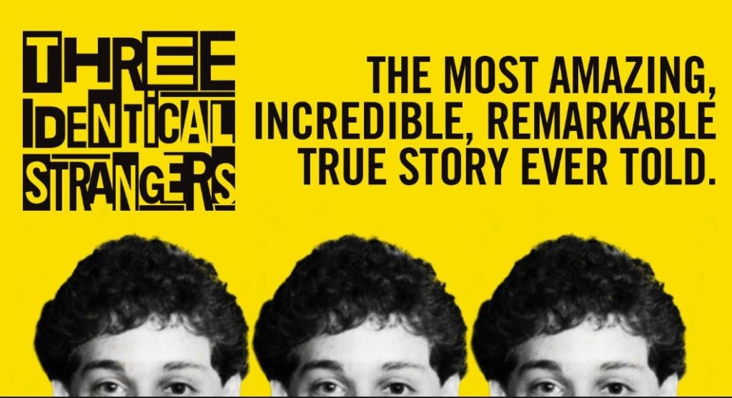 Three Identical Strangers Movie Poster