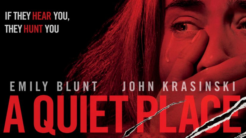 A Quiet Place poster Emily Blunt scared