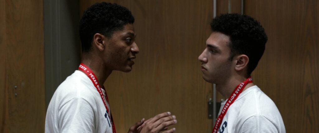 René Otero talking to ben feinstein during boys state