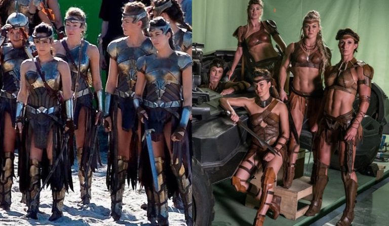 Difference in Amazon costumes between Wonder Woman and Justice League