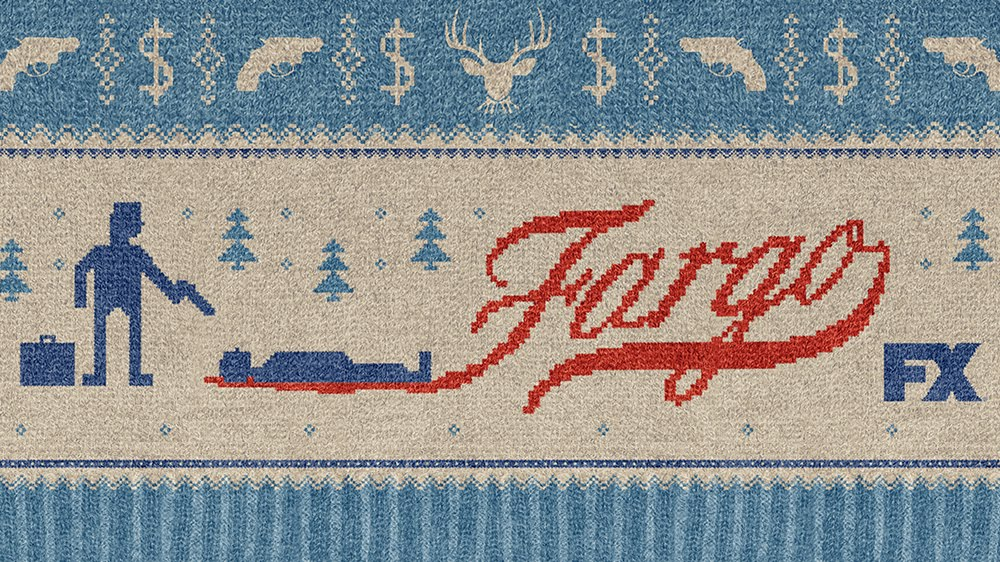 Fargo TV poster that looks like a sweater