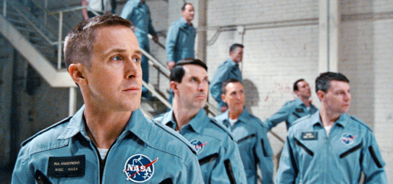 ryan gosling in a nasa astronaut uniform for first man