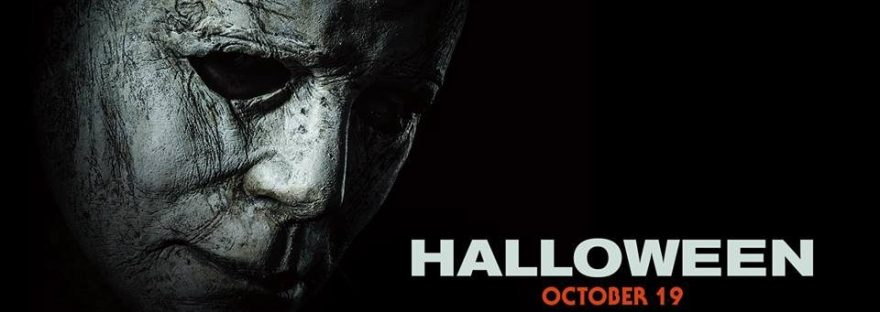halloween movie poster with michael myers 2018