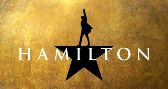 hamilton movie broadway logo banner