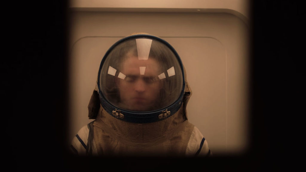 robert pattinson in space suit for high life movie