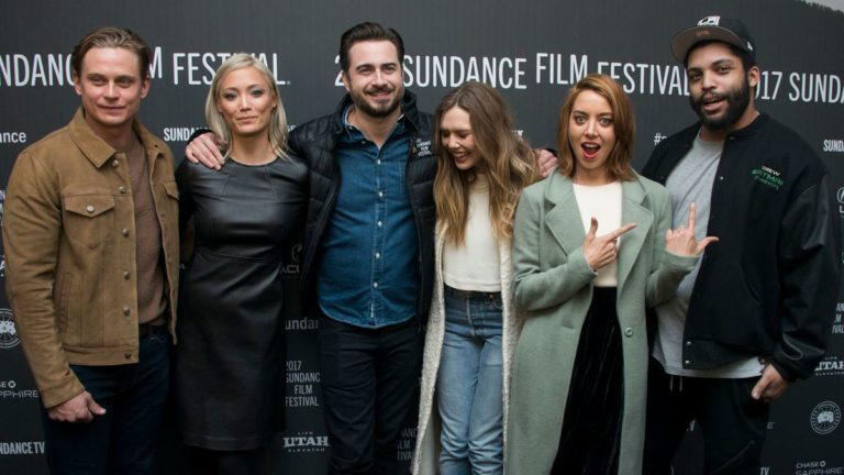 Aubrey Plaza, Elizabeth Olsen, O'Shea Jackson Jr., Billy Magnussen, and Pom Klementieff and Matt Spicer for Ingrid Goes West at Sundance