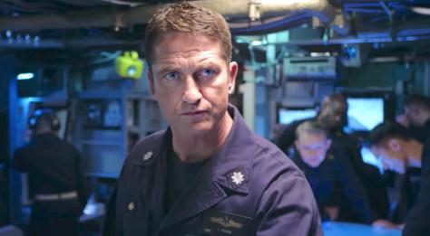 Gerard Butler in submarine control center during Hunter-Killer