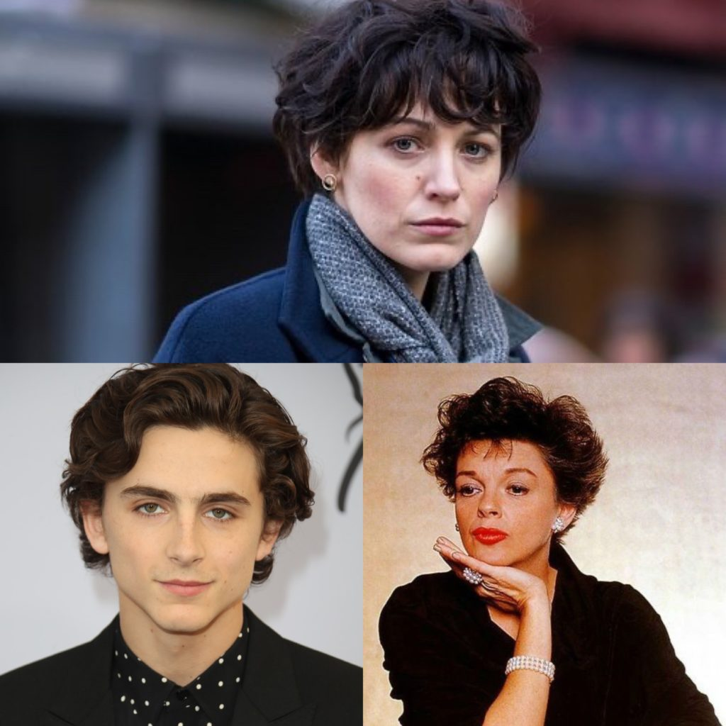Blake Lively's hair looking like Timothee Chalamet and Judy Garland in The Rhythm Section