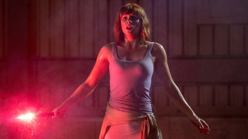 Bryce Dallas Howard with a flare in Jurassic World