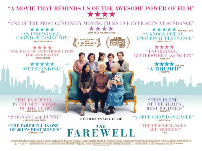 The Farewell movie poster with quotes