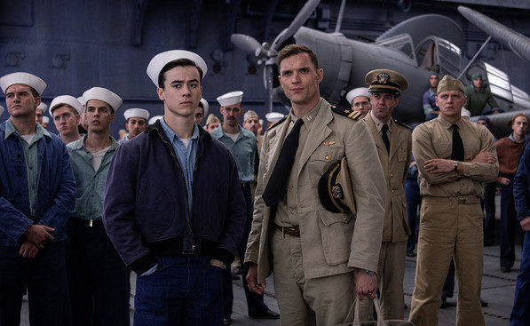 Ed Skrein in Navy uniform for Midway