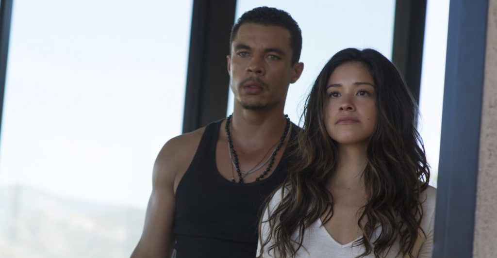 Gina Rodriguez and Ismael Cruz Cordova in Miss Bala