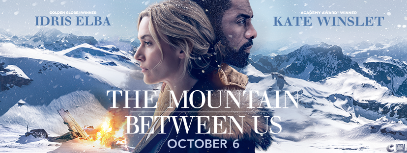 the mountain between us movie poster banner kate winslet and idris elba