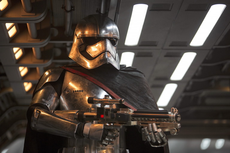Gwendole Christie as Captain Phasma in Star Wars the Force Awakens