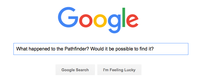 Google Search for Pathfinder status