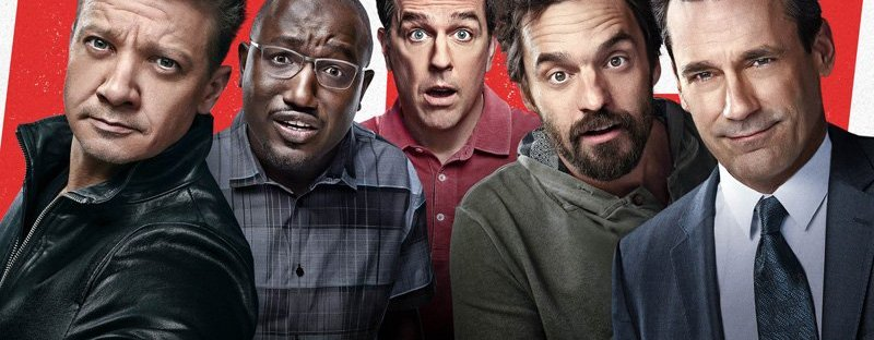 tag movie poster with jon hamm, jake jonson, ed helms, jeremy renner, and hannibal buress