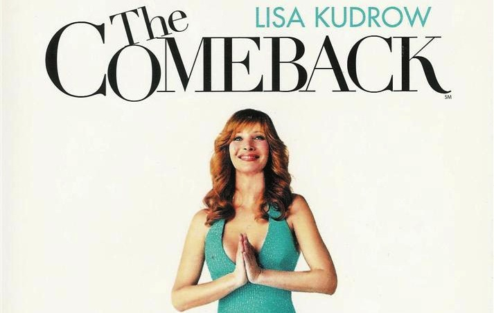 Lisa Kudrow as Valerie Cheris with prayer hands on poster of The Comeback