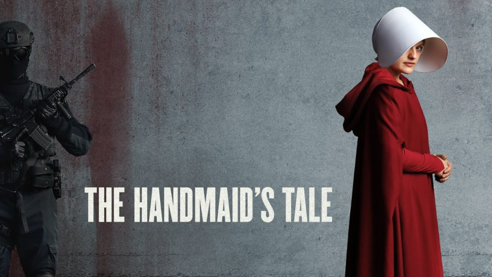 Handmaid's Tale poster with Elisabeth Moss