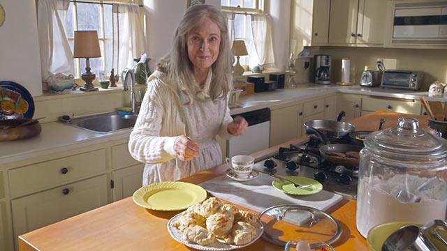 Grandma in the kitchen in The Visit horror movie