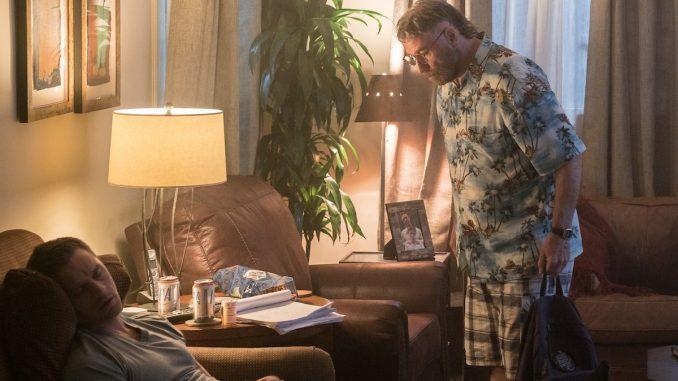 John Travolta watching Devon Sawa sleep in The Fanatic