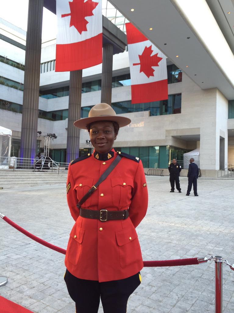 Mountie at Canadian Embassy in Washington DC