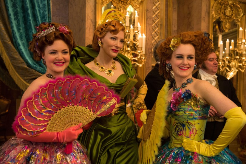 The evil stepmother (Cate Blanchett) and stepsisters in Cinderella