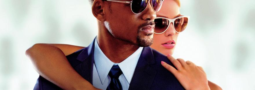 Will Smith and Margot Robbie in the Focus movie banner