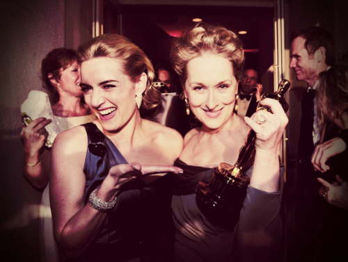 Kate Winslet and Meryl Streep at the Oscars