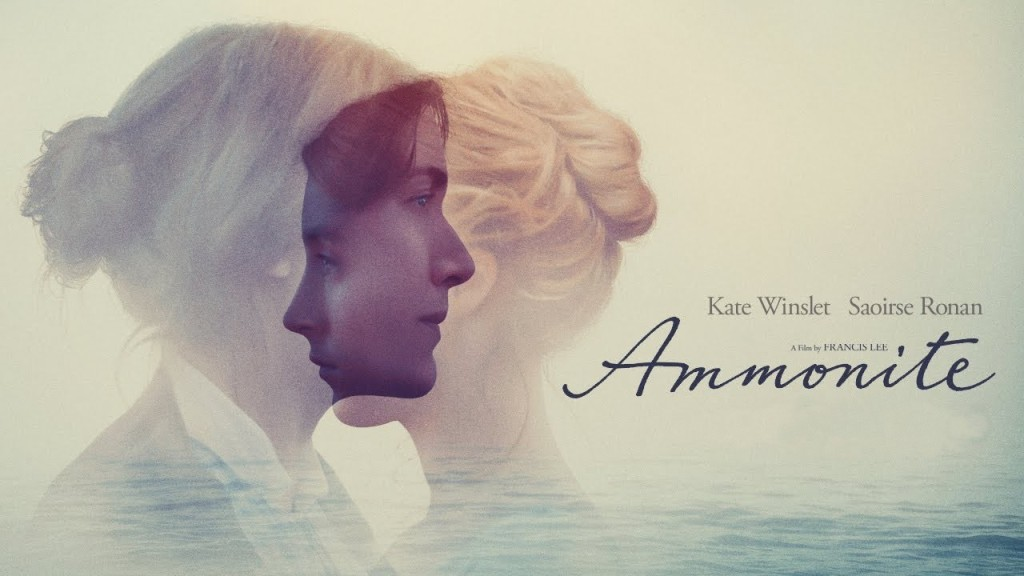 Ammonite banner with Kate Winslet and Saoirse Ronan