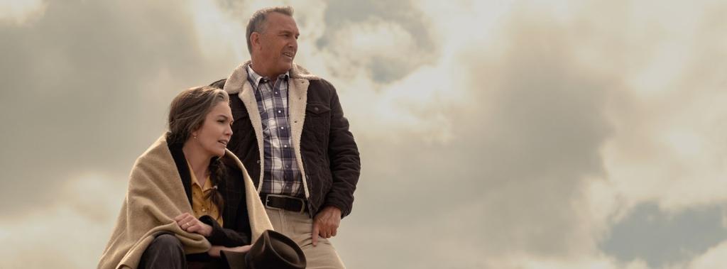 Diane Lane and Kevin Costner on a hill in Let Him Go