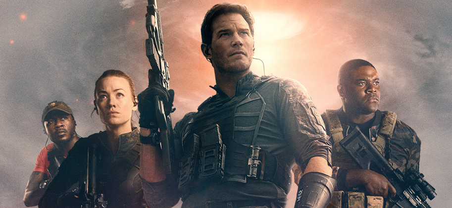 Character poster banner for the movie The Tomorrow War
