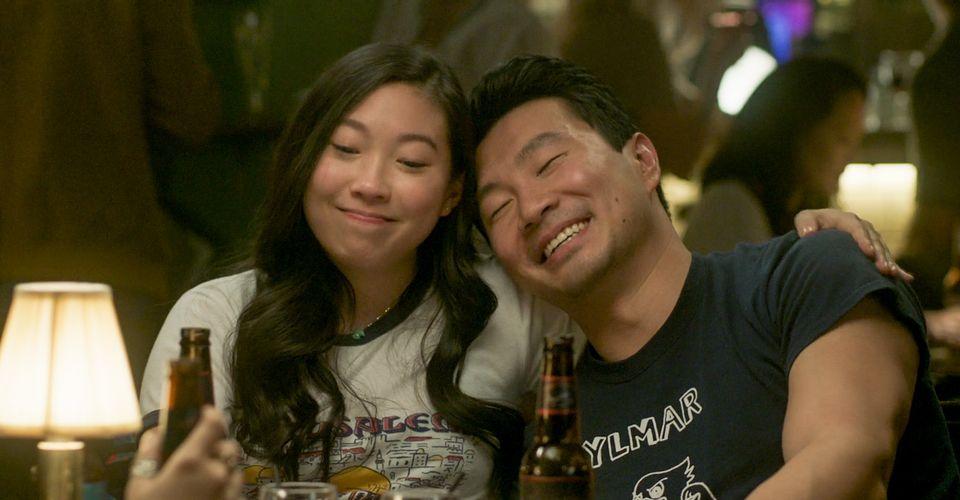 Simu Liu and Awkwafina in Shang-Chi